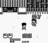 Ganbare Goemon: Sarawareta Ebisumaru! Game Boy Facing a enemy