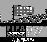 FIFA Soccer 97 Game Boy Title Screen