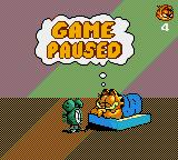 Garfield: Caught in the Act Game Gear Pause screen