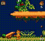Garfield: Caught in the Act Game Gear Boss fight against a dinosaur Odie