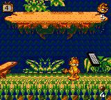 Garfield: Caught in the Act Game Gear The remote marks the end of the level