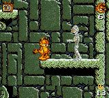 Garfield: Caught in the Act Game Gear Mummies are inevitable in an Egyptian themed level.