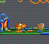 Garfield: Caught in the Act Game Gear We have to find our way through the TV's innards to get to the next level.