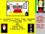 Cluedo ZX Spectrum If unsure the player can view their cards.
