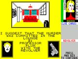 Cluedo ZX Spectrum Here the right answer is given