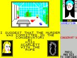 Cluedo ZX Spectrum player 'Kevin' does and reveals the Conservatory' card which we can now eliminate in the Note's section