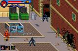 Justice League Heroes: The Flash Game Boy Advance The robots have caused much destruction.