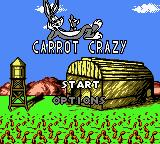 Looney Tunes: Carrot Crazy Game Boy Color Main Menu
