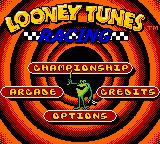 Looney Tunes Racing Game Boy Color Main Menu