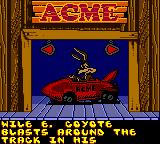 Looney Tunes Racing Game Boy Color Select your car