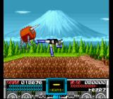 Mazinger Z SNES Taking down a Tauros in the shadow of Mt. Fuji.