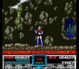 Mazinger Z SNES Boss#3's constantly spinning blades make him difficult to get close enough to punch.
