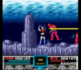 Mazinger Z SNES A pair of Holzon get a taste of Mazinger's Eye Beams.