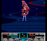 Mazinger Z SNES Boss #4 punishes Mazinger Z for getting within grabbing range.