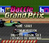 Battle Grand Prix SNES Title Screen (US).