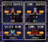 Battle Grand Prix SNES Select Driver.