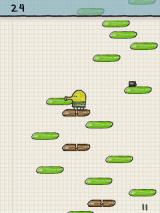 Doodle Jump J2ME Brown platforms break when jumped on