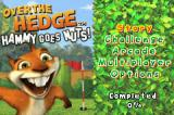 Over the Hedge: Hammy Goes Nuts! Game Boy Advance Title screen and main menu