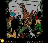 Tintin: Le Temple du Soleil Game Boy Color Main Menu