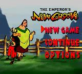Disney's The Emperor's New Groove Game Boy Color Main Menu