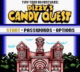 Tiny Toon Adventures: Dizzy's Candy Quest Game Boy Color Main Menu
