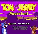 Tom and Jerry: Mouse Hunt Game Boy Color Main Menu