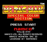 Ms. Pac-Man: Special Color Edition Game Boy Color Title Screen