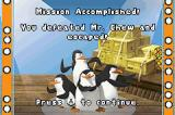 Madagascar: Operation Penguin Game Boy Advance Level completion screen