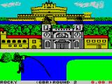 Sports-A-Roni ZX Spectrum River Jump : The character automatically plunges their pole into the water