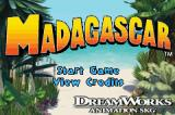 Madagascar Game Boy Advance Title screen