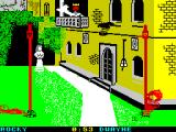 Sports-A-Roni ZX Spectrum Pole Climb : Rocky has moved up a bit, but now he's slipped back down and he's fallen off.