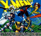 X-Men Game Gear Title screen
