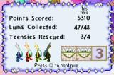 Rayman: Hoodlum's Revenge Game Boy Advance Level statistics