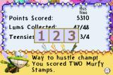 Rayman: Hoodlum's Revenge Game Boy Advance Depending on our performance, we get a certain a amount of stamps. A certain number of stamps will unlock bonus levels.