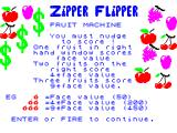 Zipper Flipper ZX Spectrum Friut machine bonuses explained