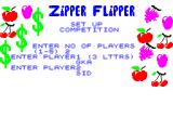 Zipper Flipper ZX Spectrum Setting up for competition play.