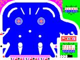 Zipper Flipper ZX Spectrum The ball has entered the chamber and has landed on the right hand switch. note what symbol is in the right hand reel