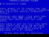 Transylvanian Tower ZX Spectrum This is the game's plot....