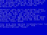 Transylvanian Tower ZX Spectrum A description of the levels