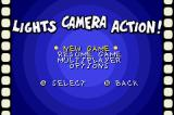 Animaniacs: Lights, Camera, Action! Game Boy Advance Main menu