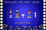 Animaniacs: Lights, Camera, Action! Game Boy Advance Password screen