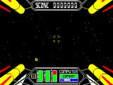 Starstrike II ZX Spectrum Must have been some kind of jump gate that's moved me to another part of space