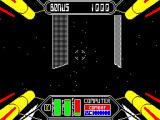 Starstrike II ZX Spectrum There are bonus points to be had when you fly through the defence grid without making contact