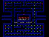Gobble A Ghost ZX Spectrum When a game is over the chance to replay is offered.