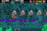 Darius R Game Boy Advance The buggies shoot homing missiles.