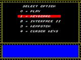 Rasputin ZX Spectrum 128k version : control selection
