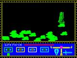 Rasputin ZX Spectrum 128k version : Fortunately, on this level at least, the fluffy clouds save you and take you back to the start