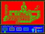 Rasputin ZX Spectrum 128k version : I've used up all my shield power, the candle in the lower right. I thought I was clear of the cannon balls but I was wrong