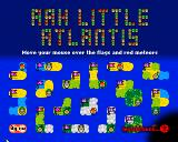 Aah Little Atlantis Browser Title screen. This also acts as a stage select screen. Your medals will show up next to the flags as you progress through the game.