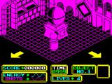 Bomb Scare ZX Spectrum Start of the mission. Controlling ARNOLD is easy, one key for 'move' and another to rotate. I found the colours are a great help in keeping track of where I am because there's no map